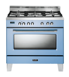 ELBA <BR /> GAS  ELECTRIC <BR /> STOVE (POWDER BLUE) <BR />MODEL: 01/9SVXBL889