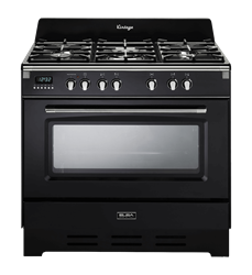 ELBA <BR &#47 ;> GAS ELECTRIC <BR &#47;> STOVE (BLACK) <BR &#47;>MODEL: 01&#47;9DVBB838