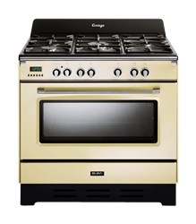 ELBA <BR /> GAS ELECTRIC <BR /> STOVE (VANILLA CREAM) <BR />MODEL: 01/9DVAC838