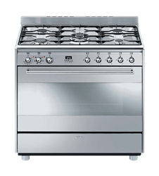 SMEG <BR &#47;> GAS ELECTRIC <BR &#47;> STOVE (S&#47STEEL) <BR &#47;>MODEL: SSA91MFX1