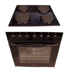 KELVINATOR <BR &#47;> BUILT IN OVEN AND <BR &#47;> HOB SET (BLACK) <BR &#47;>MODEL: KBU60BS