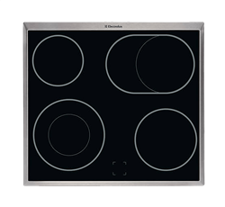 ELECTROLUX CERAMIC HOB (S/STEEL) MODEL: EHC60060X