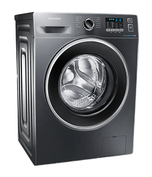 SAMSUNG FRONT LOADER WASHING MACHINE (INOX) MODEL: WF80F5EHW2X