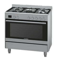 BOSCH GAS ELECTRIC STOVE (S/STEEL) MODEL: HSB737357Z