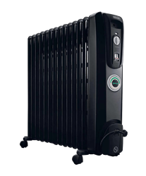 DELONGHI OIL <BR /> HEATER (BLACK) <BR />MODEL: KH771430CB