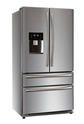 HAIER FRENCH <BR /> DOOR FRIDGE <BR /> (S/STEEL) MODEL: HB22FWRSSAA