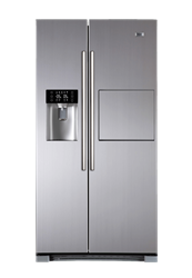 HAIER <BR /> SIDE BY SIDE <BR /> FRIDGE (S/STEEL) <BR />MODEL:  HRF-628AF6