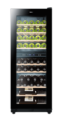 HAIER <BR /> WINE COOLER (BLACK) <BR />MODEL: WS49GDE