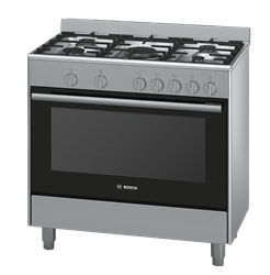 BOSCH FULL <BR /> GAS STOVE (S/STEEL) <BR />MODEL: HSG734357Z