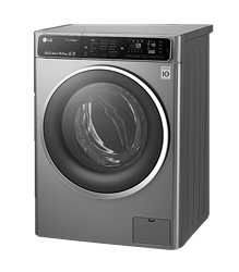 LG FRONT LOADER WASHING MACHINE (SILVER) MODEL: FH4U1JBSK