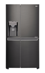 LG SIDE BY SIDE <BR /> FRIDGE (BLACK S/S) <BR />MODEL: GC-J247CKBZ
