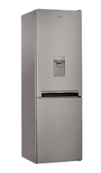 WHIRLPOOL DOUBLE <BR /> DOOR FRIDGE (INOX) <BR />MODEL: BSNF8101OXAQUA