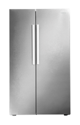 DEFY <BR /> SIDE BY SIDE <BR /> FRIDGE (METALLIC) <BR />MODEL: DFF436