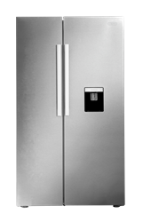 DEFY <BR /> SIDE BY SIDE <BR /> FRIDGE (METALLIC) <BR />MODEL: DFF437