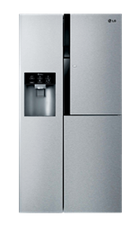 LG <BR /> SIDE BY SIDE <BR /> FRIDGE (S/STEEL) <BR />MODEL: GC-J237SLYV