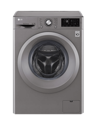 LG FRONT <BR /> LOADER WASHING <BR /> MACHINE (SILVER) <BR />MODEL: F12U2QNP7S