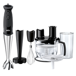BRAUN HAND <BR /> BLENDER (BLACK) <BR />MODEL: MQ5177BK