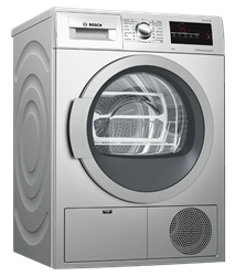 BOSCH 8KG CONDENSER TUMBLE DRYER (SILVER) MODEL: WTM8326SZA