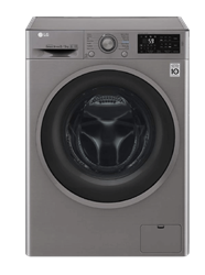 LG FRONT LOADER WASHING MACHINE (SILVER) MODEL: FH4U2TMP8S