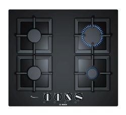 BOSCH <BR /> GAS HOB (BLACK) <BR />MODEL: PPP6A6B20