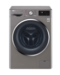 LG FRONT LOADER WASHING MACHINE (SILVER) MODEL: FH4U2TGP2