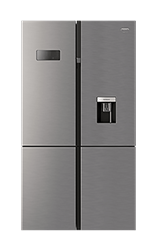 DEFY <BR &#47;> SIDE BY SIDE <BR &#47;> FRIDGE (METALLIC) <BR &#47;>MODEL: DFF405