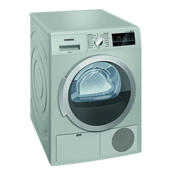 SIEMENS 8KG CONDENSER TUMBLE DRYER (SILVER) MODEL: WT46G400ZA