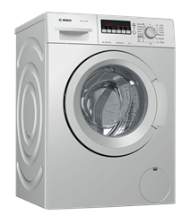 BOSCH FRONT <BR &#47;> LOADER WASHING <BR &#47;> MACHINE (SILVER) <BR &#47;>MODEL: WAK2427XZA
