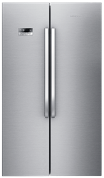 GRUNDIG <BR &#47;> SIDE BY SIDE <BR &#47;> FRIDGE (S&#47;STEEL) <BR &#47;>MODEL:GSN11120X