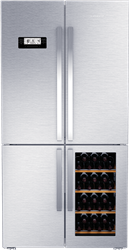 GRUDIG 4 DOOR FRIDGE (S/STEEL) MODEL: GWN21210X