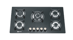ZERO GAS HOB (BLACK) MODEL: 5BURNHOB
