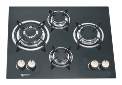 ZERO GAS HOB (BLACK) MODEL: 4BURNHOB
