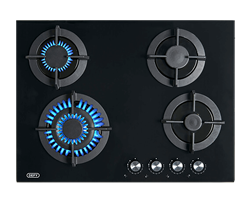 DEFY GAS HOB (BLACK GLASS) MODEL: DHG701