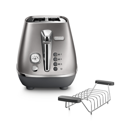 DELONGHI 2 SLICE DISTINTA FLAIR TOASTER (SILVER) MODEL: CTI2103.S