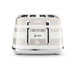 DELONGHI 4 SLICE AVVOLTA TOASTER (WHITE) MODEL: CTAC4003.W