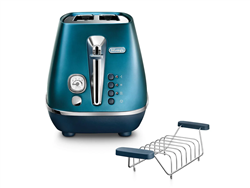 DELONGHI 2 SLICE DISTINTA FLAIR TOASTER (BLUE) MODEL: CTI2103.BL